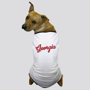 Georgia Script Red VINTAGE Dog T-Shirt