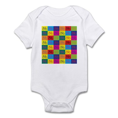 Pop Art Bicycle Infant Bodysuit
