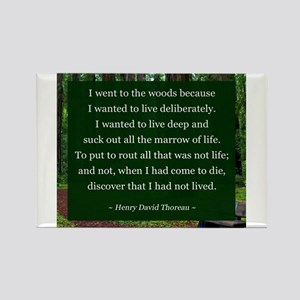 Henry David Thoreau Rectangle Magnet