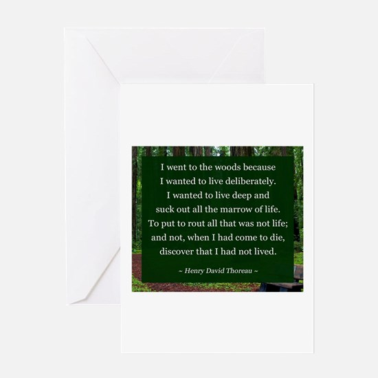 Henry David Thoreau Greeting Cards