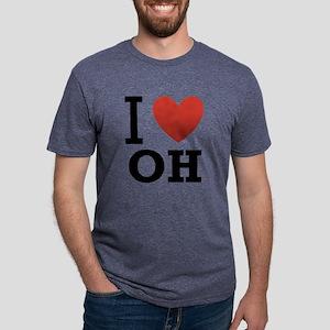I-Love-Ohio Mens Tri-blend T-Shirt