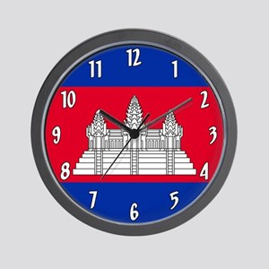 Flag of Cambodia Wall Clock