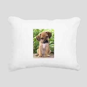 Puggle Rectangular Canvas Pillow