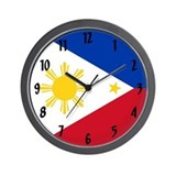 Filipino flag Wall Clocks