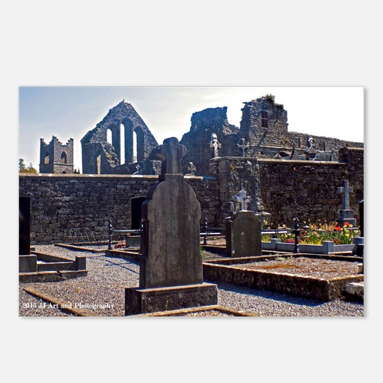 Celtic Crosses And Church Postcards (package Of 8)