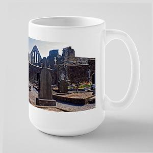 Celtic Crosses And Church Large Mug Mugs