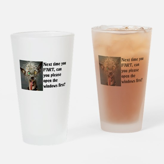 Funny Fart Drinking Glass