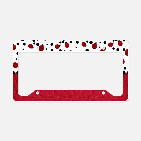 Ladybugs and Dots License Plate Holder