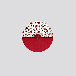 Ladybugs and Dots Mini Button