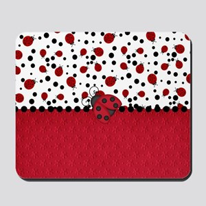 Ladybugs and Dots Mousepad