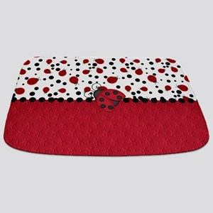 Ladybugs and Dots Bathmat