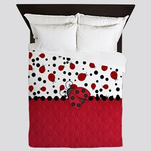 Ladybugs and Dots Queen Duvet