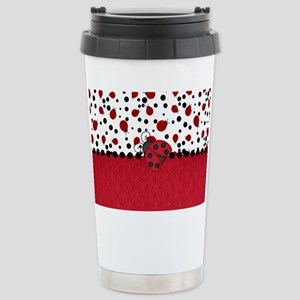 Ladybugs and Dots Travel Mug