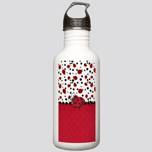 Ladybugs and Dots Water Bottle