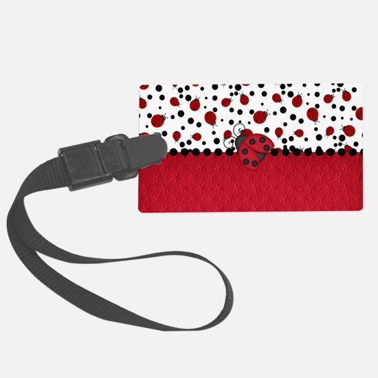 Ladybugs and Dots Luggage Tag