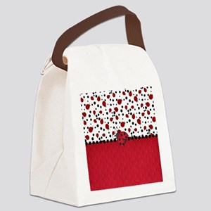 Ladybugs and Dots Canvas Lunch Bag