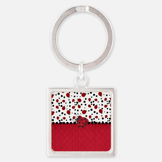 Ladybugs and Dots Keychains