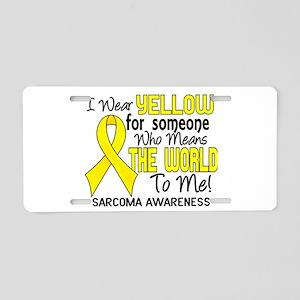 Sarcoma MeansWorldToMe2 Aluminum License Plate