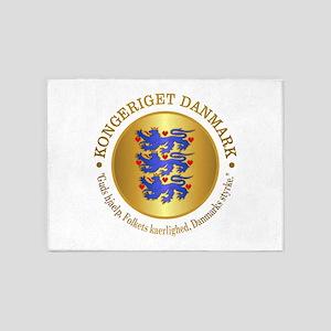 Danmark Emblem 5'x7'Area Rug