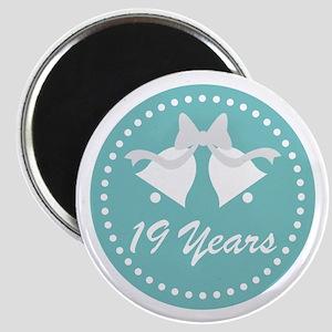 19th Anniversary Wedding Bells Magnet