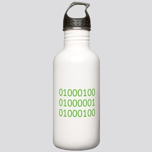 DAD in Binary Code Water Bottle