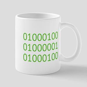 DAD in Binary Code Mugs