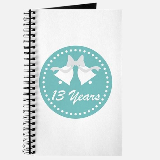 13th Anniversary Wedding Bells Journal