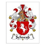 Schwab Family Crest  Small Poster