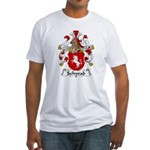 Schwab Family Crest  Fitted T-Shirt