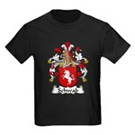 Schwab Family Crest  Kids Dark T-Shirt