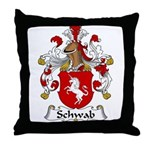 Schwab Family Crest  Throw Pillow
