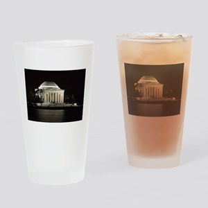 Thomas Jefferson Memorial at Night Drinking Glass
