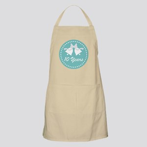 10th Anniversary Wedding Bells Apron