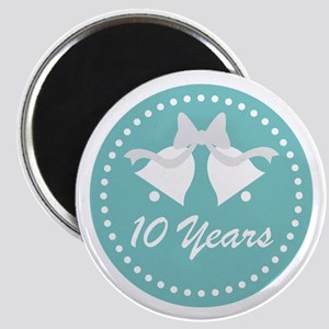 10th Anniversary Wedding Bells Magnet