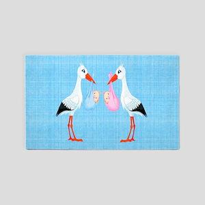 Stork Twins Area Rug