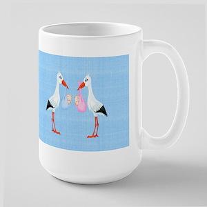 Stork Twins Large Mug