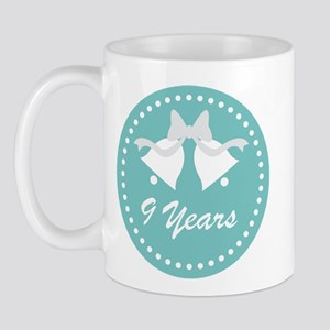 9th Anniversary Wedding Bells Mug