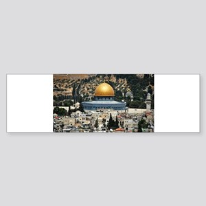 Dome of the Rock, Temple Mount, Jer Bumper Sticker
