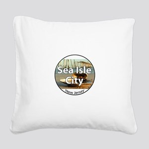 I love coffee Square Canvas Pillow