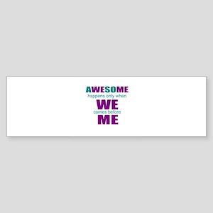 motivational education Bumper Sticker