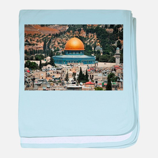 Dome of the Rock, Temple Mount, Jerus baby blanket