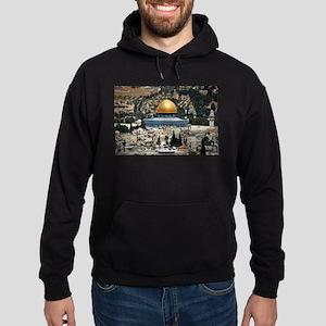 Dome of the Rock, Temple Mount, Jeru Hoodie (dark)