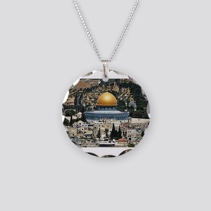 Dome of the Rock, Temple Mou Necklace Circle Charm