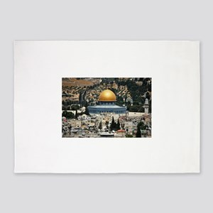 Dome of the Rock, Temple Mount, Jer 5'x7'Area Rug