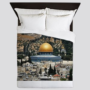 Dome of the Rock, Temple Mount, Jerusa Queen Duvet