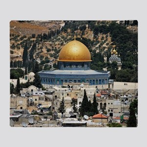Dome of the Rock, Temple Mount, Jeru Throw Blanket