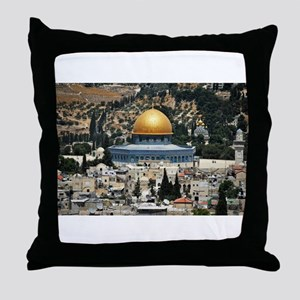 Dome of the Rock, Temple Mount, Jerus Throw Pillow