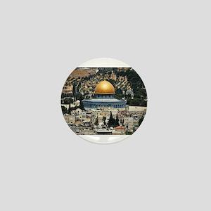 Dome of the Rock, Temple Mount, Jerusa Mini Button
