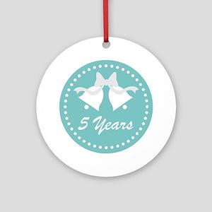 5th Anniversary Wedding Bells Ornament (Round)