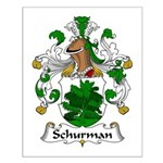 Schurman Family Crest Small Poster